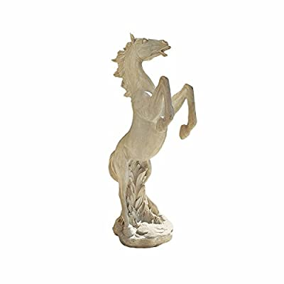 Design Toscano JE111291 Majestic Mustang Horse Statue,ancient ivory