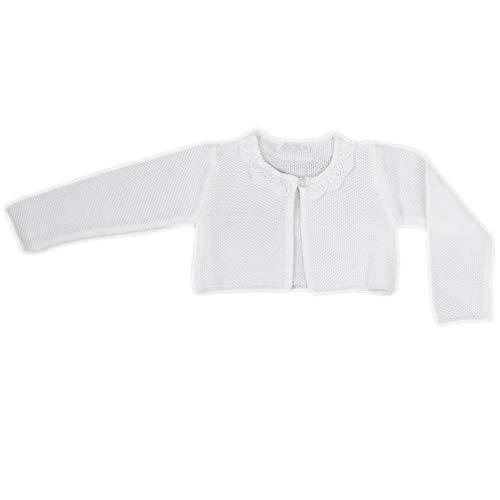 Bolero Baby Bolerojäckchen Strickjacke weiß off white 6062 Gr. 62