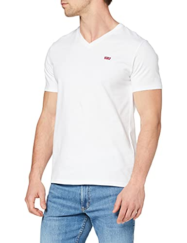 Levi's Orig Hm Vneck Camiseta, White (White 0000), Large para Hombre