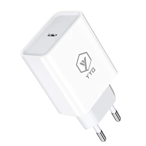 YYQ Alimentatore USB‑C 20W Caricabatterie PD Caricatore Power Delivery 3.0 Quick Charge Ricarica Rapida per iPhone 12 11 PRO Max SE XS Max XR 8 Samsung Galaxy S21 Ultra S20 S9 iPad PRO Honor P40