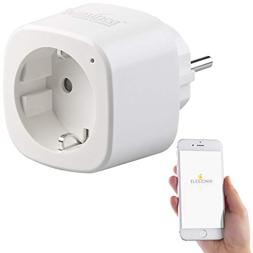 Luminea Home Control Wi-Fi presa: Presa WLAN con app, 16 A, comp. a Siri, Alexa e l'Assistente Google (inteligente presa)