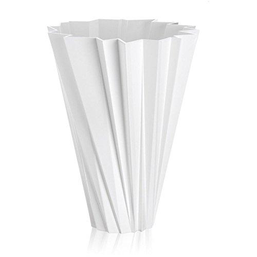 Kartell 1229E5 Vase Shanghai, weiß glänzend