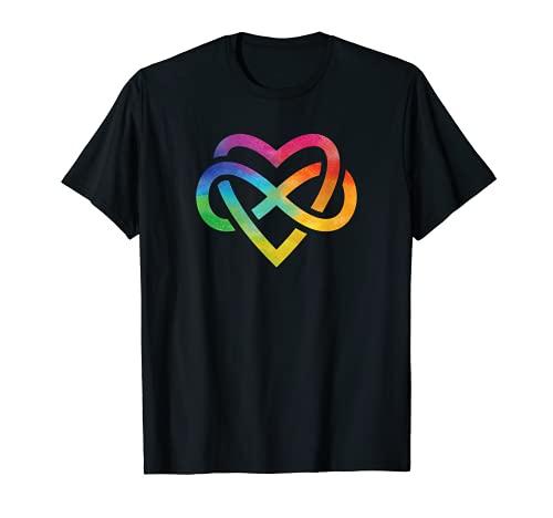 Corazón de acuarela arco iris Camiseta