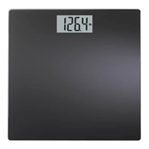 InstaTrack Large Display Digital Bathroom Scale with Step-On Technology in black, Accurately Measures up to 400 Pounds
