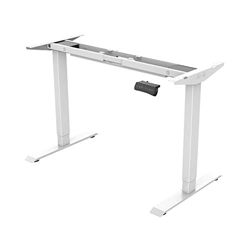 FLEXISPOT White Height Adjustable Desk, Steel, Electric