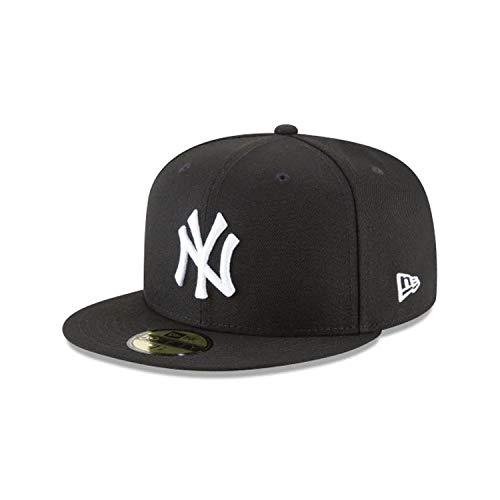 New Era 59Fifty Hat MLB Basic New York Yankees Black/White Fitted Baseball Cap (7)