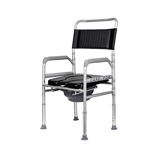 Z-SEAT Silla para Inodoro Silla para Inodoro de cabecera para obesidad - Plegable 4n1 Portátil, Asiento de Inodoro de Barrera médica con apoyabrazos, Ajustable en Altura