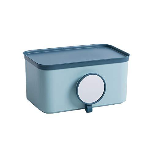 TYV Wandmontage toiletpapierhouder, wc-weefseldoos, waterdicht en slagvrij, met spiegel, grote opbergruimte 24 * 13,4 * 12,4 cm