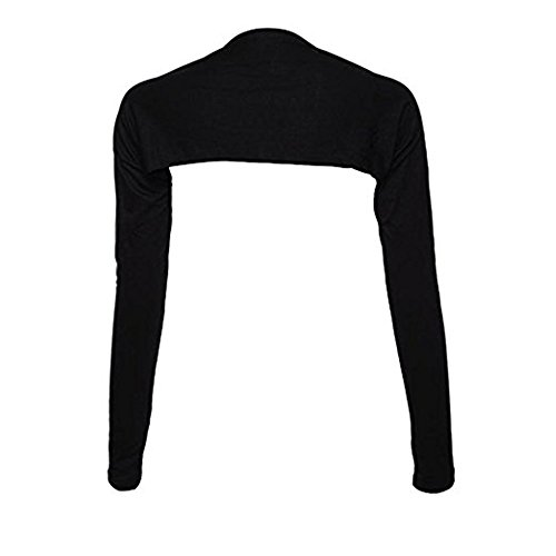 YEESAM Bolero Shrugs for Women Long Sleeve Arm Sleeves Hijab Accessories One Size (Black)