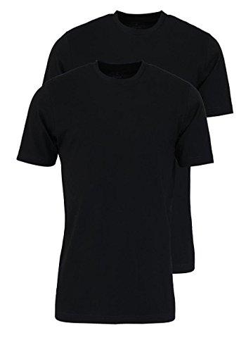 Marvelis T-Shirt schwarz Rundhals 2er Pack 2816/00/68, 4XL