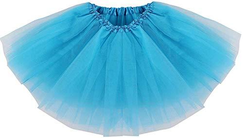 Ksnrang Tutu Falda de Mujer Falda de Tul 50's Short Ballet 3 Capas Accesorios de Vestimenta de Baile Niñas para Vestirse Disfraces Danza (Arcoiris)
