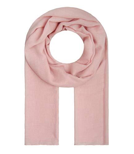Majea Tuch Lima schmal geschnittenes Damen-Halstuch leicht uni einfarbig dünn unifarben Schal weich Sommerschal Übergangsschal, Rosa, 180cm x 50cm