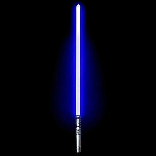 Dueling Lightsabers - Force FX Lightsaber for Adults Heavy Dueling with 6 Sound Fonts Rechargeable Metal Aluminum LED Light Sabers for Adults(Silver)