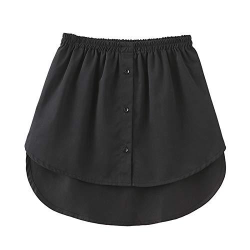 Ordertown Falso Falso Para Mujer Falda Irregular Blusa Cola Dobladillo Algodón Desmontable Enagua Para Ropa Suéter 2XL Blanco