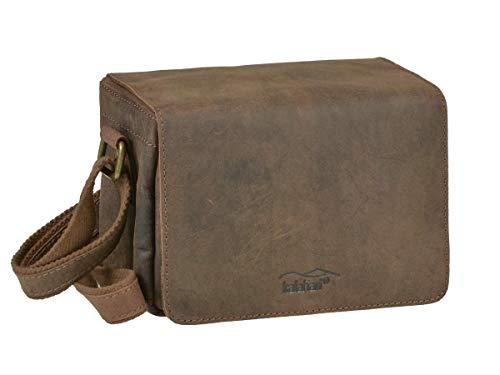 Kalahari Fototasche Leder braun Kameratasche Videotasche Umhängetasche 21x15x12cmLS-16