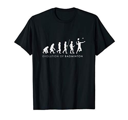 Badminton Evolution Schläger Federball Racket Geschenk T-Shirt