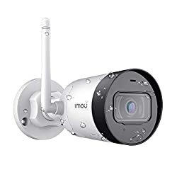 Imou IP67 Weatherproof Outdoor Security Camera, 1080P FHD Home Surveillance Camera, Superb IP Wi-Fi Bullet Camera with External Antenna, Built-in Microphone, Motion Detection and Night Vision,Dahua Technology,Bullet Lite