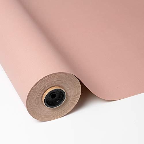 PAKOT Rollo Papel de Regalo Kraft Reciclado Color Rosa - Bob