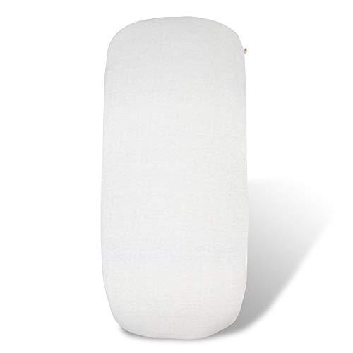 Fundas BCN ® - B10L/01 - Sábana Bajera Ajustable Para Capazo o Cuco Bugaboo Cameleon, Bugaboo Fox, Baby Jogger y Uppababy Vista - Color Liso Clean White