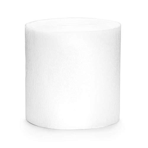 Publilancio SRL 4 Stück Rolle KREPP-Papier Rosen Weiß von 5 cm x 10 M jeder total 40 M