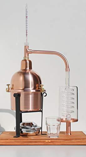 CAFA Distillatore Alambicco in Rame con serpentina in Vetro di Boemia