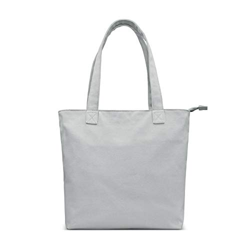 YKN Canvas Tote bag,Reusable Large Bags with Separate Packaging,Multi-purpose Blank Canvas Bags, Use for Grocery Bags,Book Bags,Shopping Bags,Craft DIY Drawing,Gift Bags,Travel Tote Bag (Blue grey)