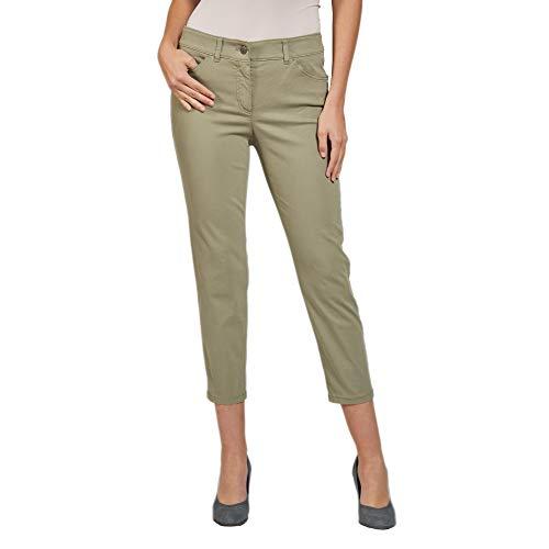Gerry Weber 92335-67813 dames 7/8 jeans in five-pocket-vorm met riemlussen