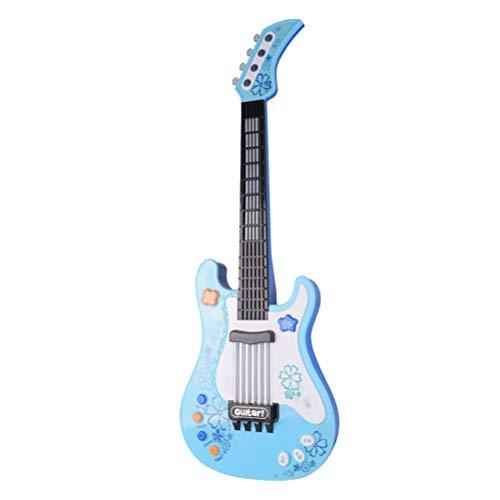 TOYANDONA Guitarra eléctrica para niños, Juguetes Musicales, Instrumentos Musicales, Juguetes, batería no...