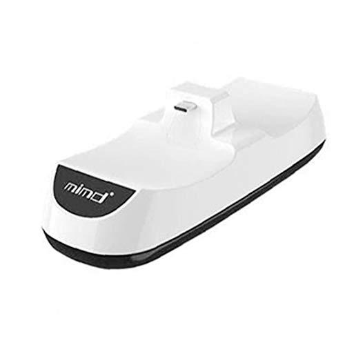 YepYes PS5 Cargador Mando inalámbrico estación de Acoplamiento, de Juego USB estación de Carga Dual del Muelle LED Blanco Compatible con PS5
