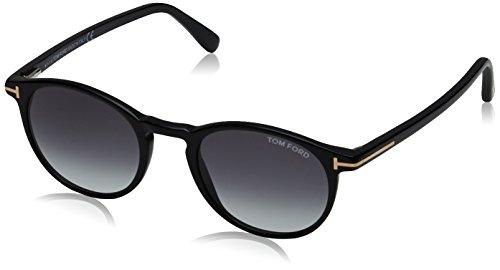 Tom Ford FT0539 01B 48 gafas de sol, Negro (Negro LucidoFumo Grad), 48.0 para Hombre