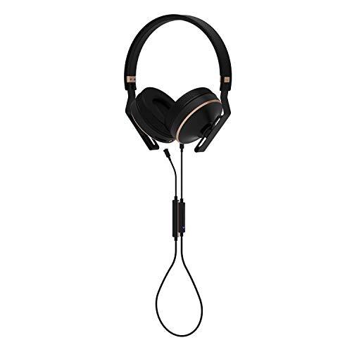 MAS X5h Studio-Monitor, leicht, faltbar, On-Ear-Kopfhörer, Bluetooth-Kombination mit 12 Stunden Hörzeit, MMCX-Bluetooth-Kabel, versilbertes Audiokabel, Inline-Fernbedienungskabel mit MEMS-Mikrofon