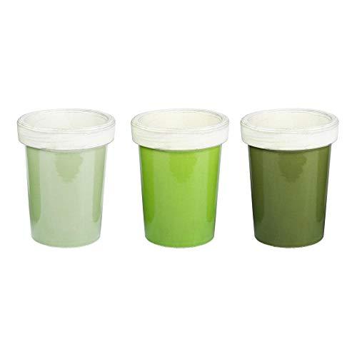 Esschert Design Série Long Pot de tomates Couleurs Assorties Vert Clair/Vert/Vert foncé/Vert
