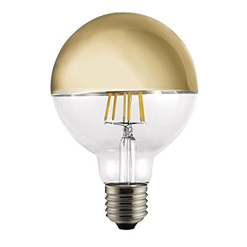 CristalRecord Bombilla LED, Luz Cálida E27, 6 W, Dorado, 125 x 180 mm