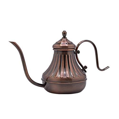 Irinay Gießkanne 450 Ml Vintage Bronze Gooseneck Kaffeekanne Übergießkaffeekessel Mit Filter Hand Tropf Kaffeekanne Tee Percolator Teekanne Innenreinigung Gartenbewässerung Werkzeug
