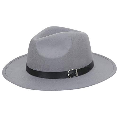 Lvntsx witte hoed vrouwen Crushable vilt Outback hoed Panama hoed brede rand met riem Sombreros