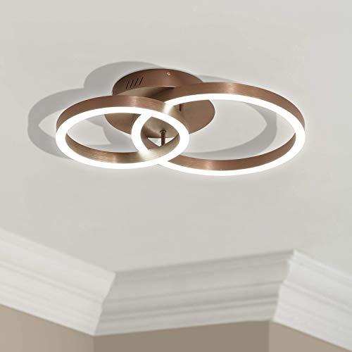 Leniure Gold Circular LED Light Ceiling Lamp Chandelier Lighting Fixture 23
