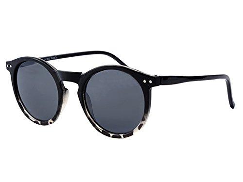 LOOX Sonnenbrille Pantobrille 400UV getönt getigert- Modell St.Tropez weiß