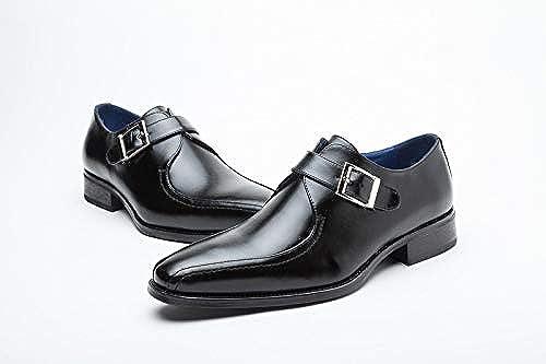 LOVDRAM Chaussures en Cuir pour Hommes Chaussures pour Hommes, Chaussures Japonaises, Chaussures Habillées, Chaussures De Travail, Chaussures en Cuir Décontractées, Boucles