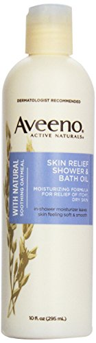 Aveeno Skin Relief Shower & Bath Oil, 10 Ounce (Pack of 3)