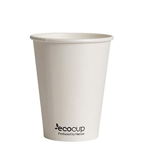 Vasos de Café Desechables, Biodegradables y Compostables- 500Uds 400ml/ 12oz -Materiales 100%...