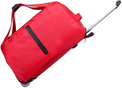 GQY Trolley - approved for travel cabin - ultra-light travel luggage suitcase (Color : Rouge, Size : Moyen)
