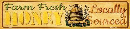 Koopje Wereld Boerderij Verse Honing Mini Straat Teken (Met Sticky Notes)