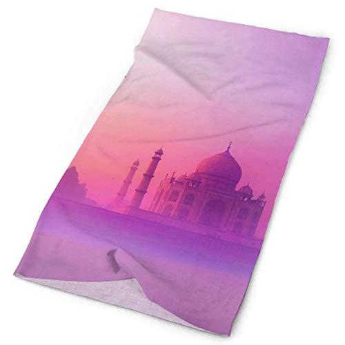 Quintion Robeson Bandana al Aire Libre para Rave Face Mascarilla bucal Protección contra el Polvo Belleza de Taj Mahal Máscara de Tubo Headwear Bandana, Mujeres Hombres