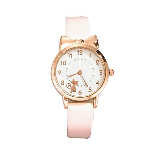 JZDH Relojes para Mujer Mira Las Mujeres Últimas Mujeres Moda Cable Cable Cafe White LADORES Relojes de Cuero de Moda Reloj de Pulsera de Cuarzo Relojes Decorativos Casuales para Niñas Damas
