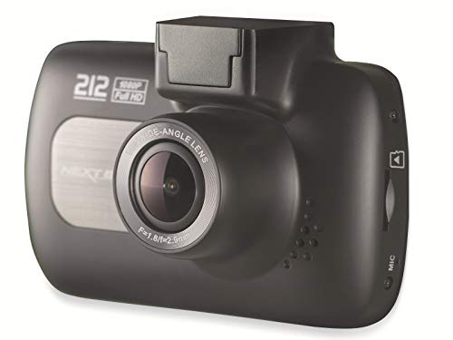 "Nextbase 212 Lite - Full 1080p HD 2.7"" Screen, In-Car Dash Camera DVR - Night Vision Front Cam - Automatic Recording, 140° Viewing Angle - Mount Included, Loop Recording -Black"
