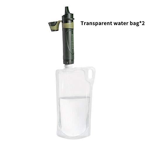 BCAV Camping Kochgeschirr Miniwell Military Liefert Outdoor-Wasserfilter Strohwasserreiniger Filter Notfall-Kit