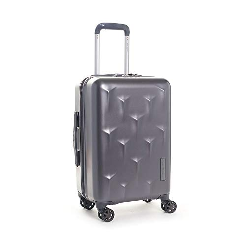 Hedgren Edge Carve Hardside Carry On Spinner Suitcase, 6 lb, 20', Charcoal