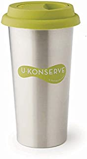 U Konserve - Insulated Coffee Cup, Keeps Beverages at Perfect Temperature, Durable Alternative, Dishwasher Safe (Lime)