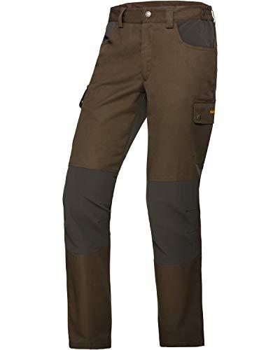 Hubertus Hydro - Pantalones de caza con elástico, color verde oscuro, 48