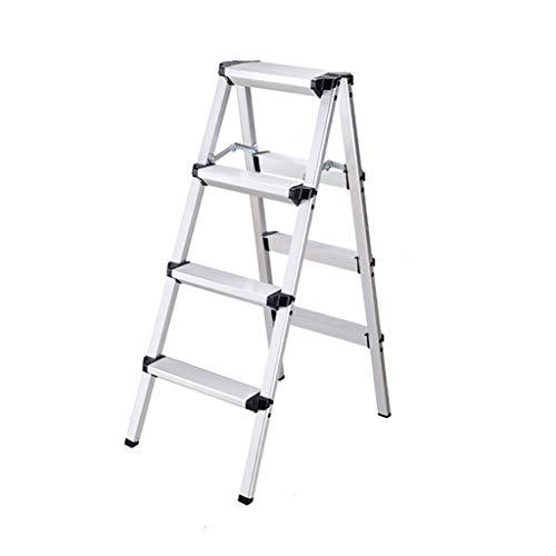 Step Stool Wooden- Puede ser Utilizado como Soporte de Flor - Escalera Plegable Antideslizante del hogar portátil de la aleación de Aluminio Welcome (Tamaño : L)